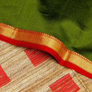 Kuberan Bottle Green Maheshwari Saree