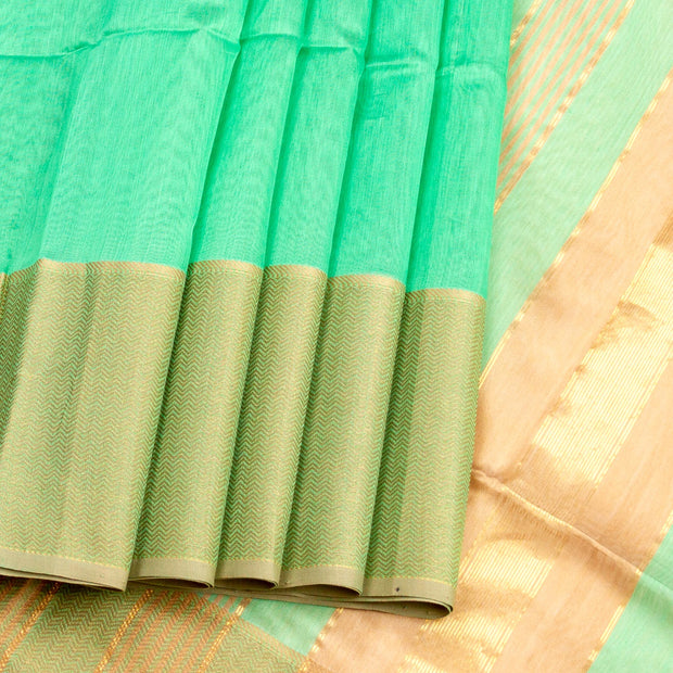 Kuberan Pacific Blue  Maheshwari Saree