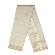 Kuberan Grey Pure Silk Dhoti