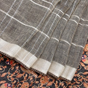 Kuberan Black Grey Banaras Saree