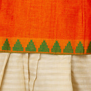 Kuberan Orange Cotton Readymade Pavada