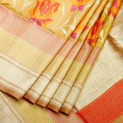 Kuberan Beige Brown Banaras Saree