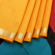 Kuberan Yellow Raw Silk Saree