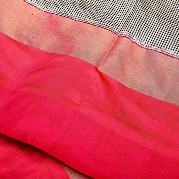 Kuberan Black Pink Pochampally Silk Saree