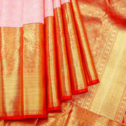 Kuberan Baby Pink Pure Kanchivaram Silk Saree