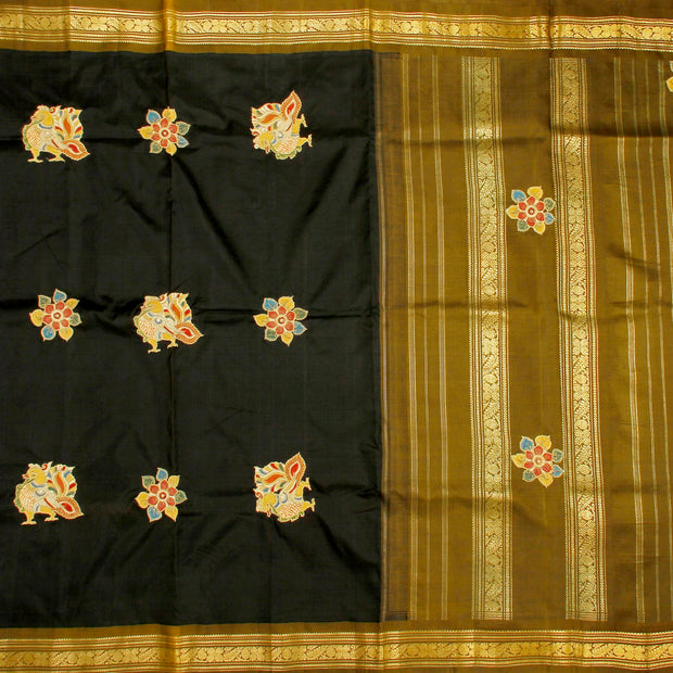 Kuberan Black Fancy Saree