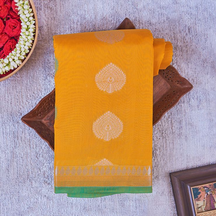 Kuberan Yellow Cotton Saree