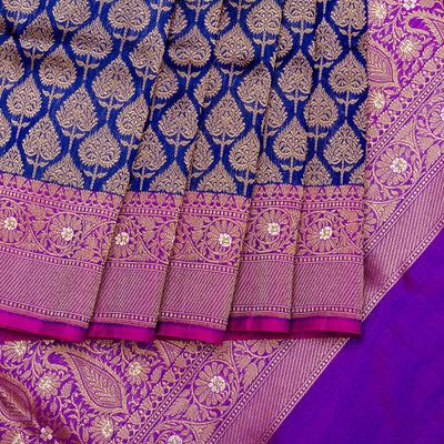 Kuberan Purple Banarasi Saree