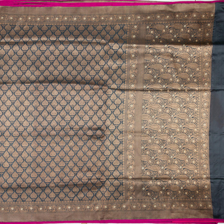 Kuberan Grey Banarasi Saree
