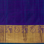 Kuberan Dark Blue Kanchivaram Silk Saree