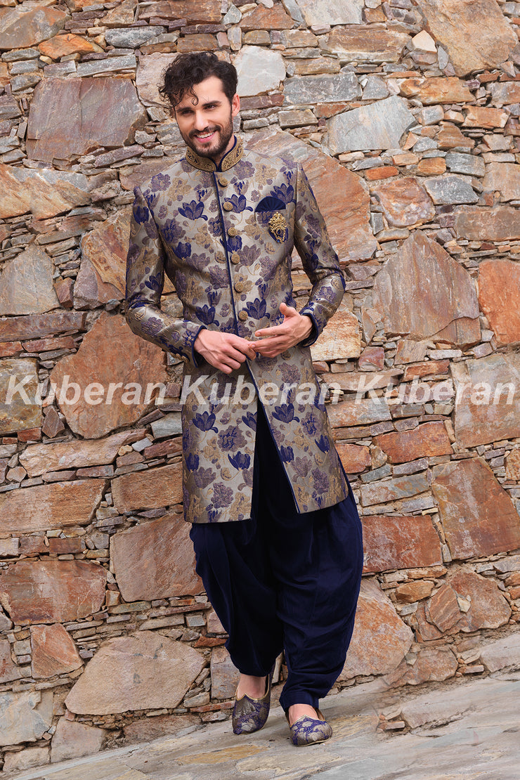 Kuberan Royal Blue Sherwani