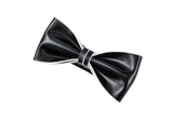 Italian Gentleman  Leather Bow Tie #015001 BK