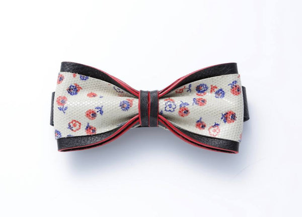 Modern Classic Leather Bow Tie #014003