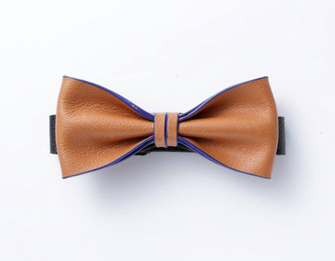 Modern Classic Leather Bow Tie  #014002