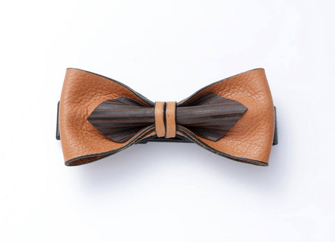 Modern Classic Leather Bow Tie #014004