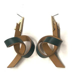 Single Loop Leather Earring-Green 皮革單圈耳環-綠