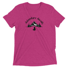 "Load image into Gallery viewer, ""Adventure Awaits"" Cat T-Shirt - 7 Colors"