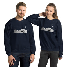 Load image into Gallery viewer, Night Sky Cat Adventure Sweatshirt - 2 Colors