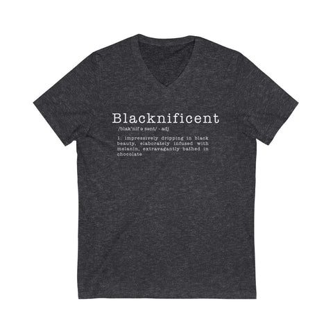 Blacknificent /adj/  | Unisex V-Neck Tee