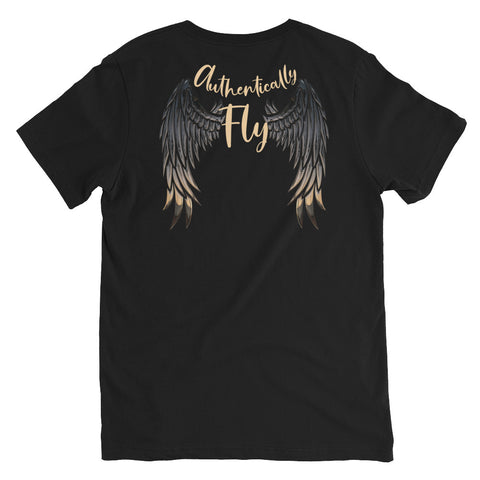Authentically Fly | Unisex V-Neck Tee