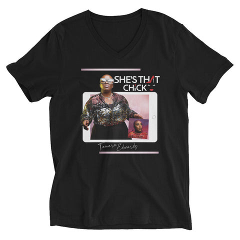STC ARTIST TEE COLLECTION - TAMARA EDWARDS  |  Unisex V-Neck Tee