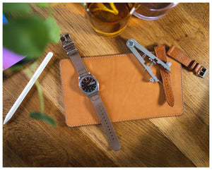 watchvalet natural vegetable tanned