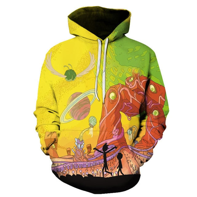 Rick and Morty Hoodie: Alien World