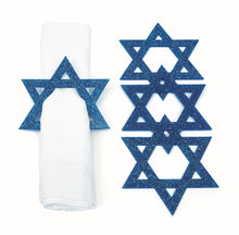 Load image into Gallery viewer, Star of David Coasters & Napkin Rings
