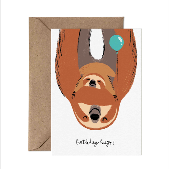 Big Birthday Hugs! (Sloths) - Card Nest
