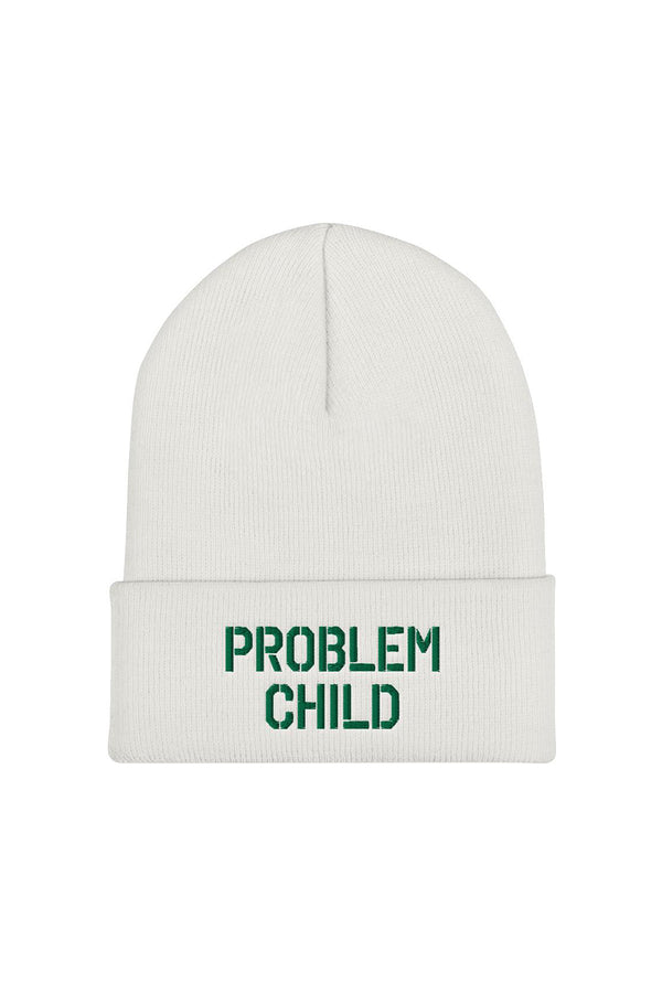 Problem Child White Beanie