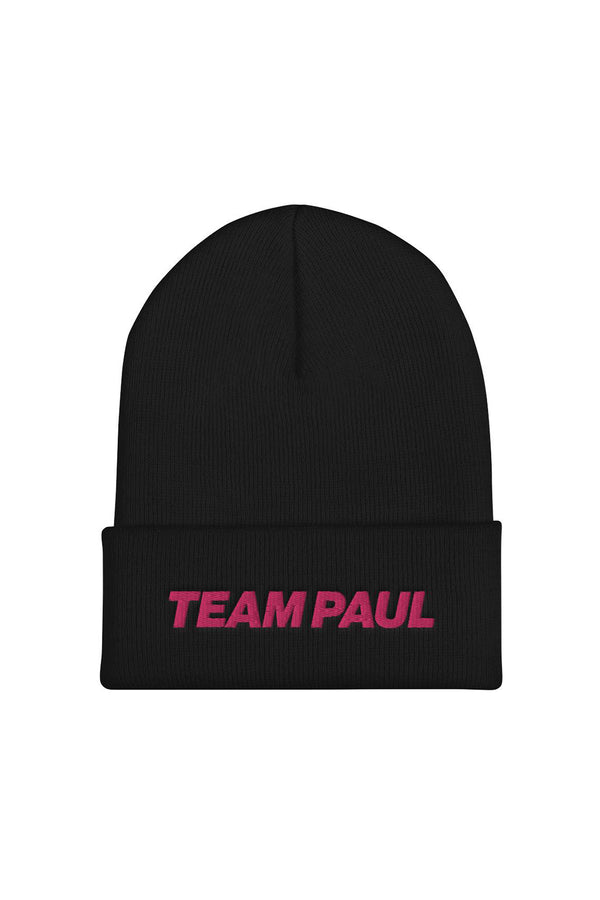 Team Paul Black Beanie