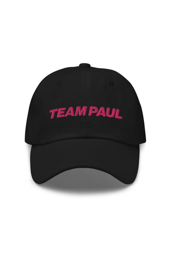 Team Paul Black Dad hat