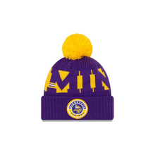Load image into Gallery viewer, Minnesota Vikings New Era 2020 NFL Sideline Official Sport Pom Cuffed Knit Hat/Toque