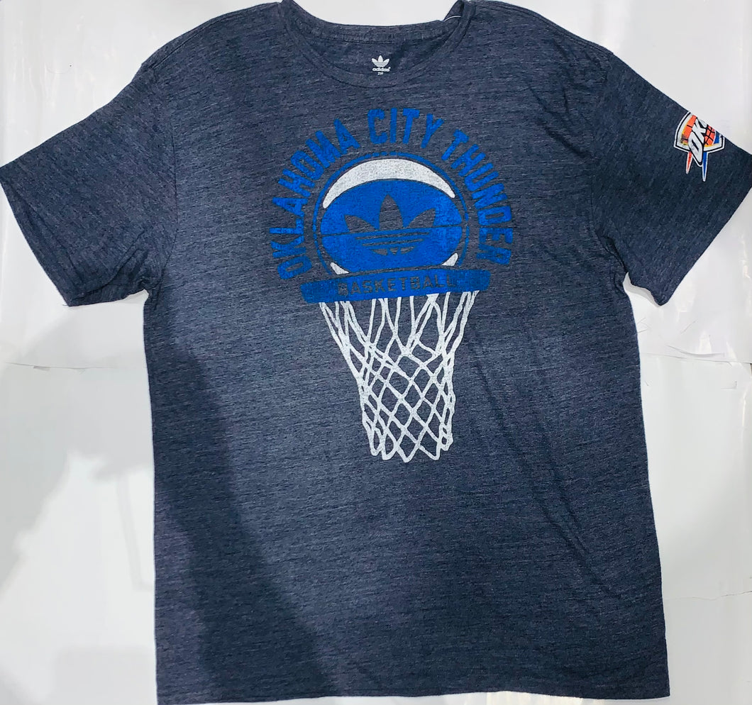 Oklahoma City Thunder Basketball Adidas Heather Tee