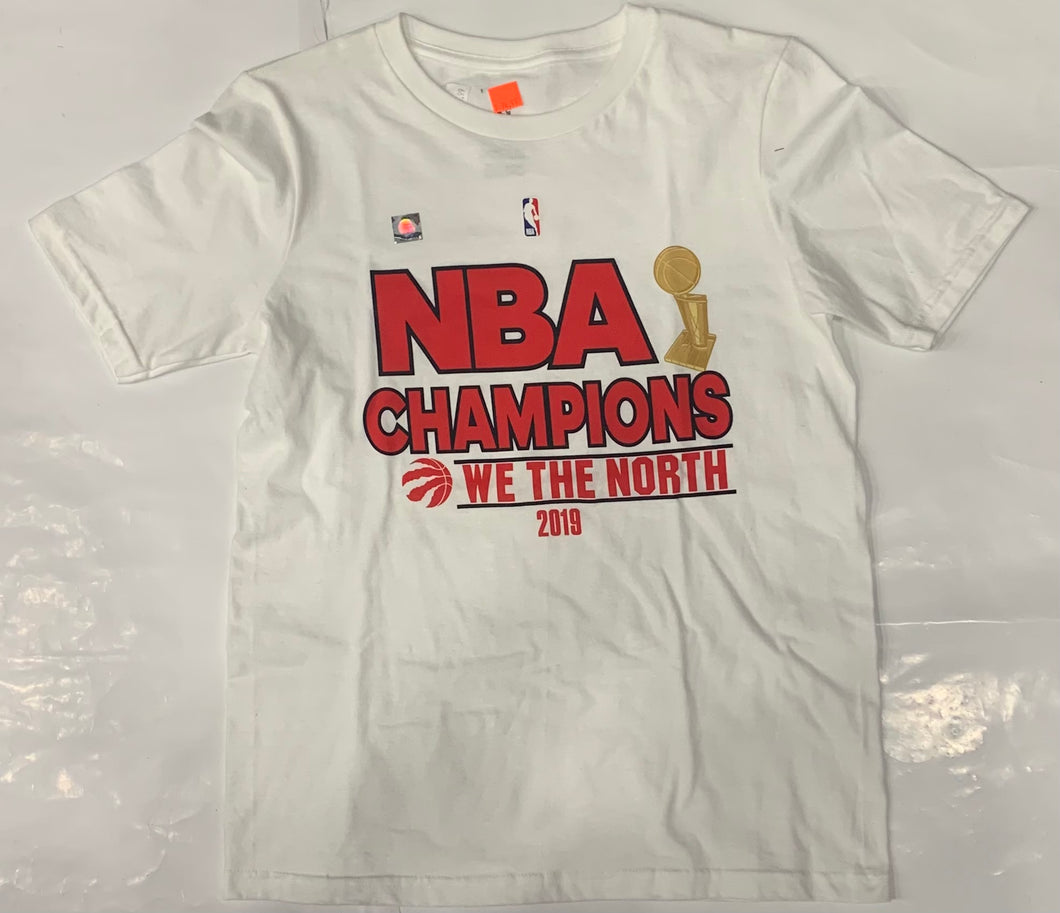 Youth Toronto Blue Jays 'We The North' NBA Champions 2019 White Tee