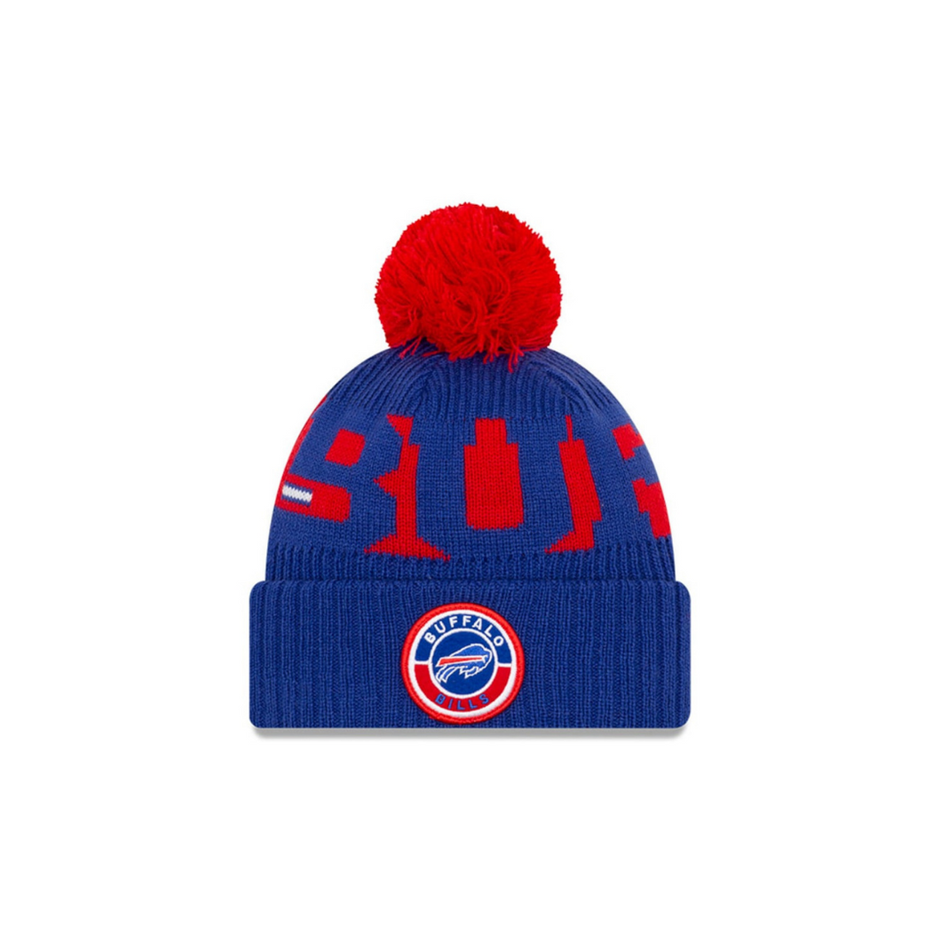 SOLD OUT!!! Buffalo Bills New Era 2020 NFL Sideline  Official Sport Pom Cuffed Knit Hat/Toque