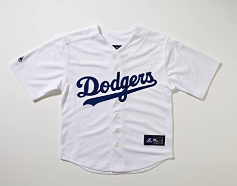 Majestic Big Kid's MLB Los Angeles Dodgers Major League Baseball Home White Jersey