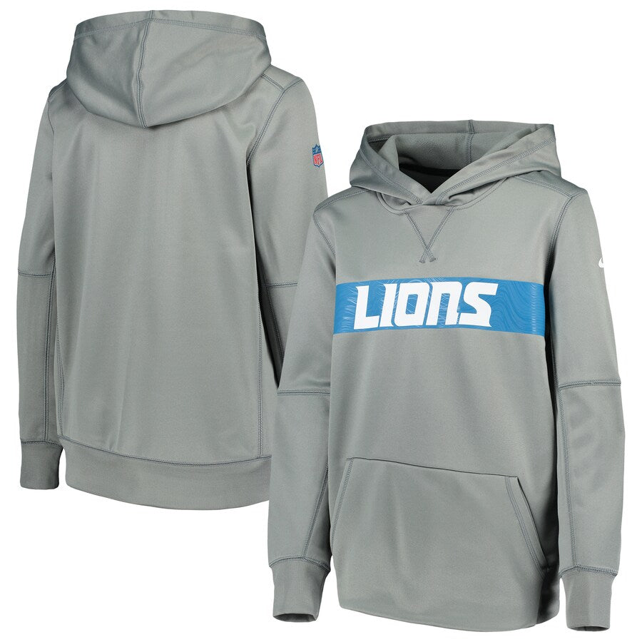 Detroit Lions Fleece Nike Therma-Fit Hoodie
