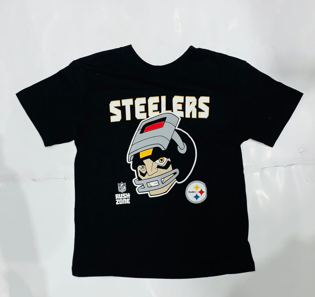 Pittsburgh Steelers Youth Black Graphic Tee
