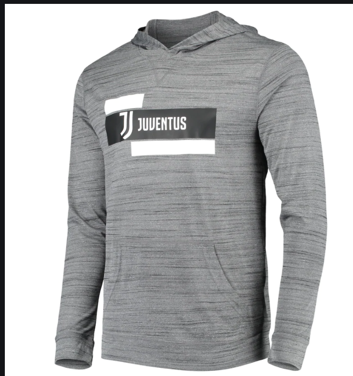 Juventus Levelwear Anchor Lightweight Four-Four-Two Pullover Hoodie - Heathered Gray