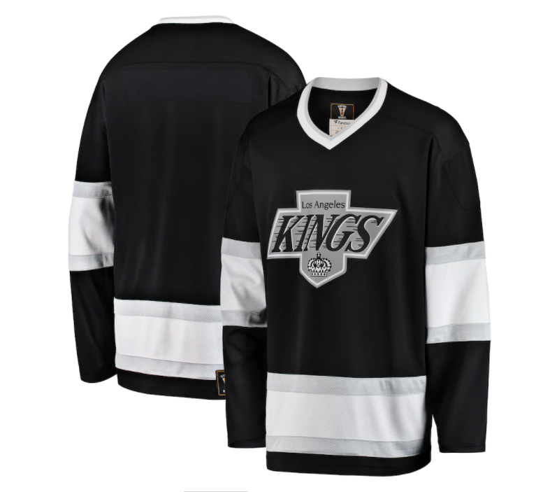Los Angeles Kings NHL Fanatics Branded Premier Breakaway Heritage Blank Jersey - Black