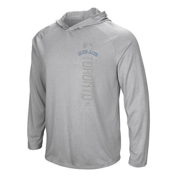 Toronto Blue Jays Majestic Authentic Untralight Long Sleeve Grey Hoodie