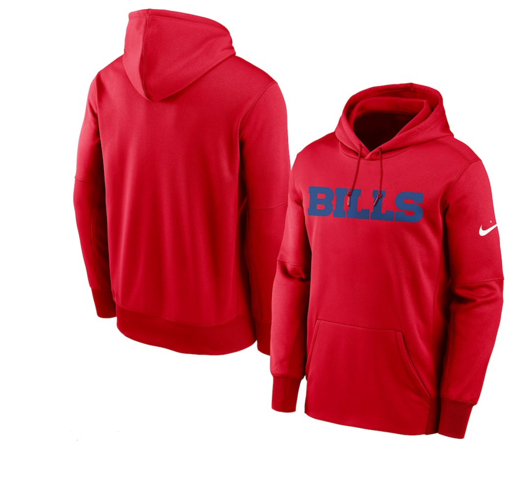Buffalo Bills Nike Red Pullover Hoodie