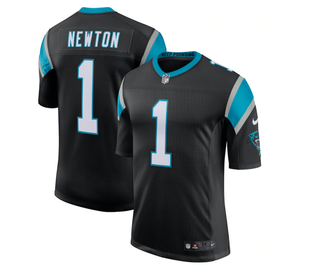 Men's Nike Cam Newton Black Carolina Panthers Limited Jersey