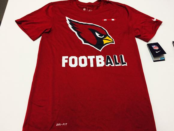 Men's Nike Red Arizona Cardinals Sideline Legend Football Performance T-Shirt
