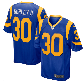 Men's Nike Todd Gurley II Royal Los Angeles Rams Player Jersey