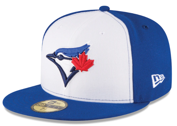 Men's Toronto Blue Jays New Era White Royal 2017 Authentic Collection On-Field 59FIFTY Fitted Hat