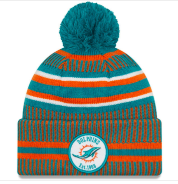 Miami Dolphins New Era Home Sideline Navy Knit Hat/Toque
