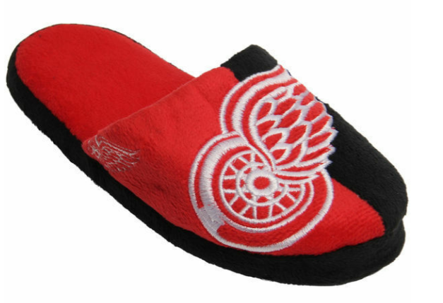 NHL Detroit Red Wings Hockey Split Color Slide Slippers