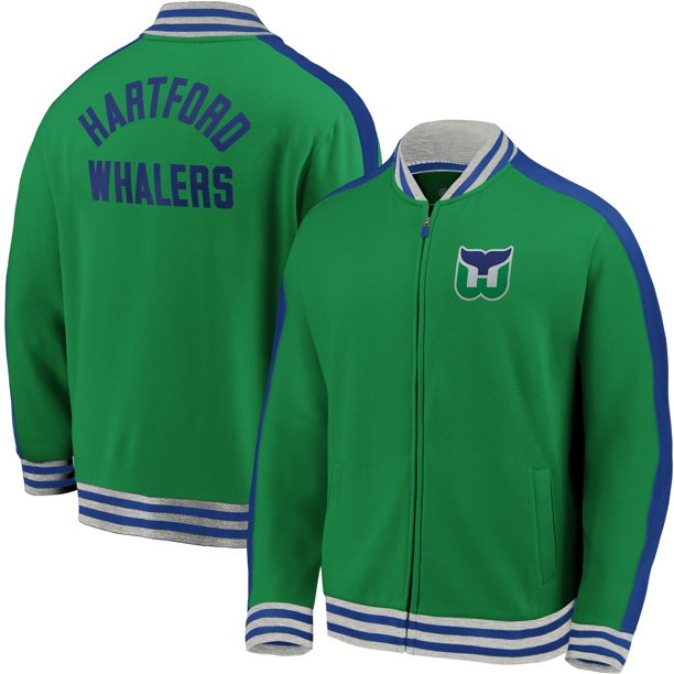 NHL Mens Hartword Whalers Varsity Green Full Zip Track Jacket